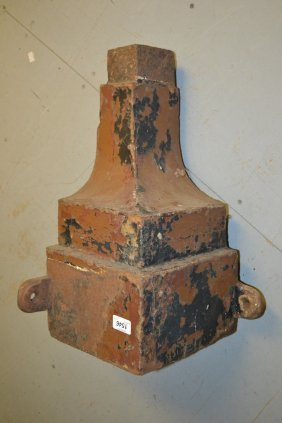 Late 19th / Early 20th Century Square Iron Corner Rain