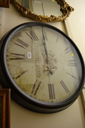 Group Of Various Modern Wall Clocks In Antique Style
