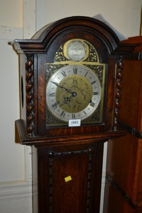 1930's Oak Three Train Grandmother Clock