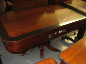 19th Century Yew Wood And Crossbanded Rectangular Rent
