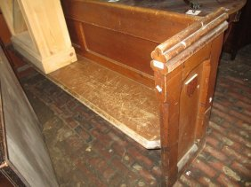 Victorian Stained Pine Church Pew