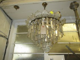 Late 19th Or Early 20th Century Circular Light Fitting