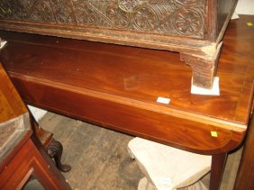 Reproduction Mahogany And Line Inlaid Pembroke Type