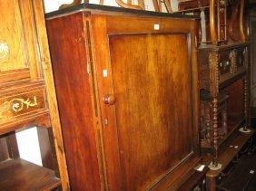 Victorian Mahogany Single Door Cupboard With Square