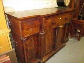 19th Century Mahogany Breakfront Secretaire Sideboard,
