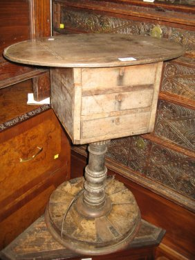 Small Victorian Three Drawer Work Table (a/f)