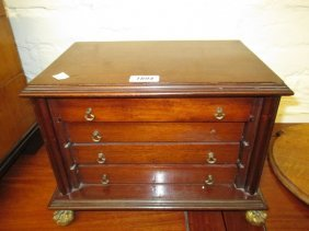 Edwardian Mahogany Table Top Collectors Cabinet With