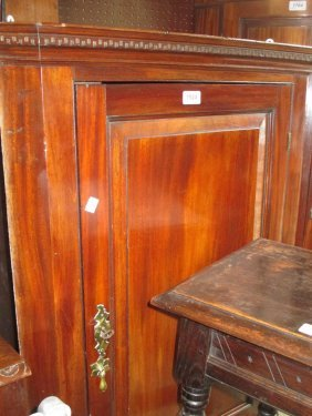 George Iii Mahogany Hanging Corner Cupboard With A