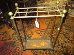 Brass And Cast Iron Eight Division Umbrella Stand