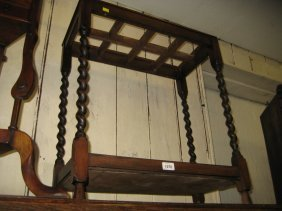 1930's Eight Division Stick Stand On Barley Twist