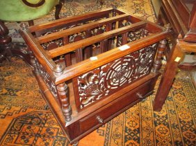Victorian Rosewood Three Division Canterbury With