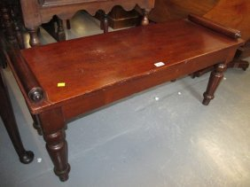 Late 19th Century Mahogany Window Seat Raised On