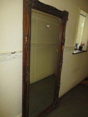 Large Rectangular Swept Gilt Framed Wall Mirror