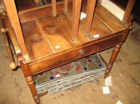 19th Century French Fruitwood Washstand Having
