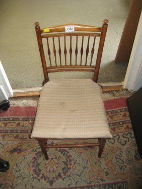 Child's Spindle Back Rush Seated Chair Together With A