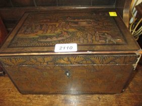 19th Century Chinese Export Chinoiserie Lacquered Tea