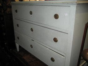 Late 19th Century Continental Painted Three Drawer
