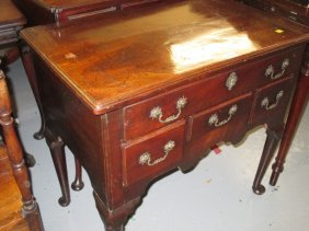 18th Century Mahogany Lowboy With Moulded Top Above