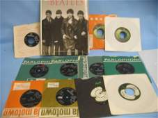 Seven original 1960's Parlophone records by the Beatles