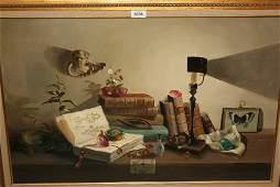 Deborah Jones oil on canvas still life with various