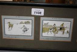 Group of four small early 20th Century sporting prints