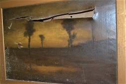 Late 19th Century oil on canvas landscape af gilt