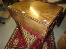 Good quality George IV mahogany drop-leaf work table