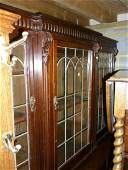 Edwardian mahogany breakfront dwarf bookcase with