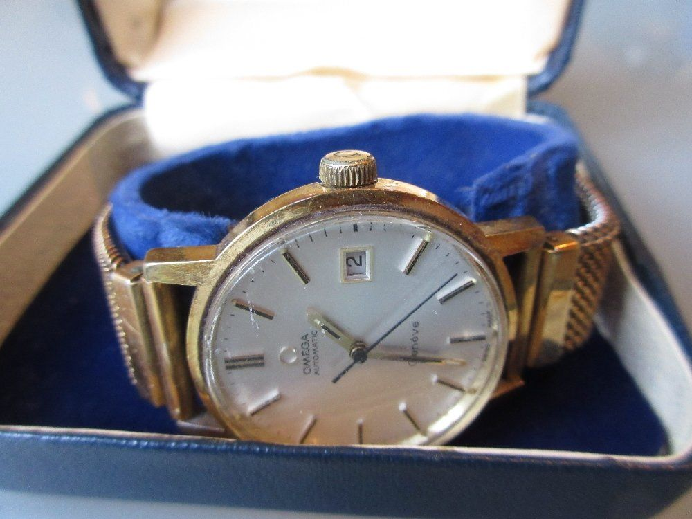 Omega gentleman's automatic gold plated wristwatch with