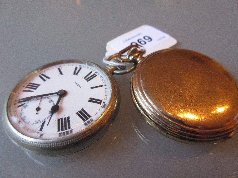Elgin gold plated hunter pocket watch (a/f) together