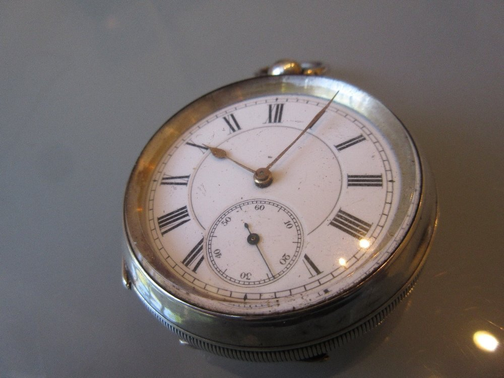 935 Continental silver cased pocket watch having