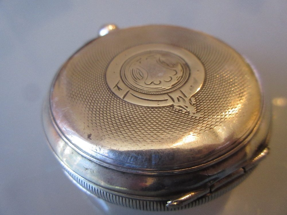 935 Continental silver cased pocket watch having - 2