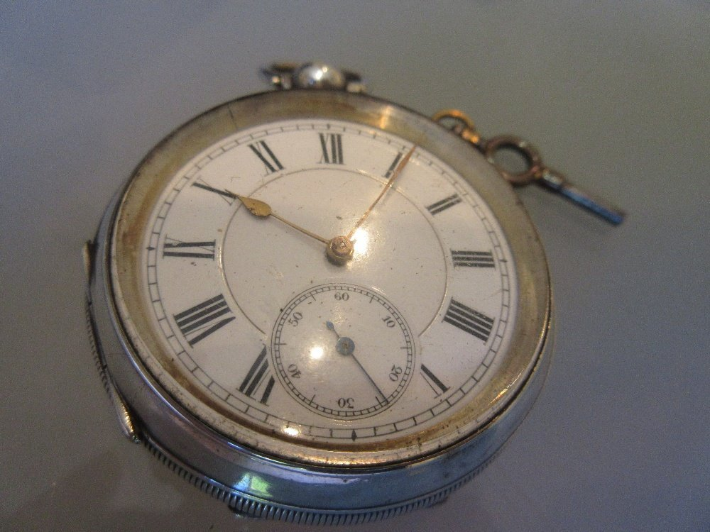 935 Continental silver cased pocket watch having - 3