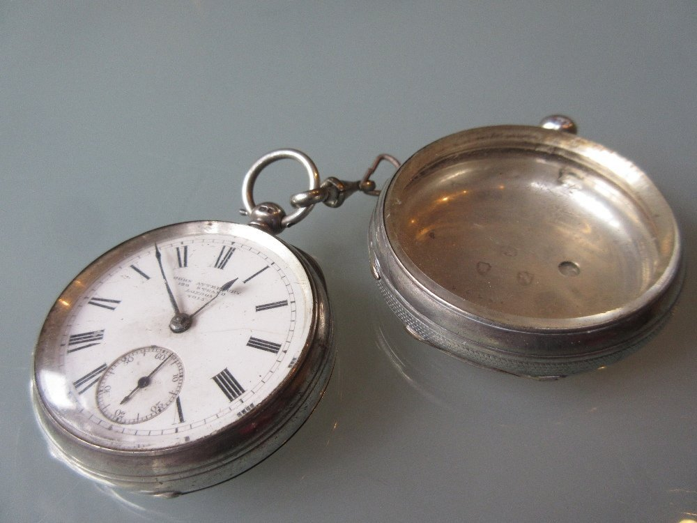 19th Century silver key wind single fusee pocket watch