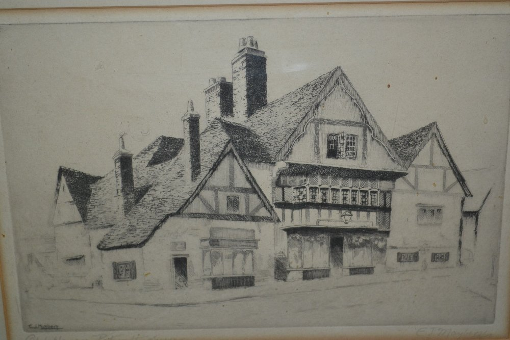 E.J. Maybery, pair of artist signed etchings, Petworth