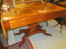George IV rosewood satinwood crossbanded and marquetry