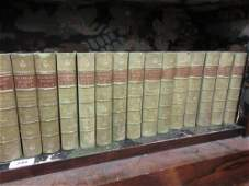 Set of twenty four volumes Waverley novels various