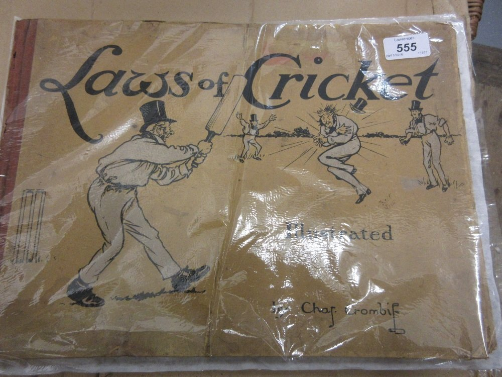 One volume, ' Laws of Cricket ' illustrated by Charles