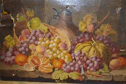 Charles Thomas Bale, oil on canvas, still life study of