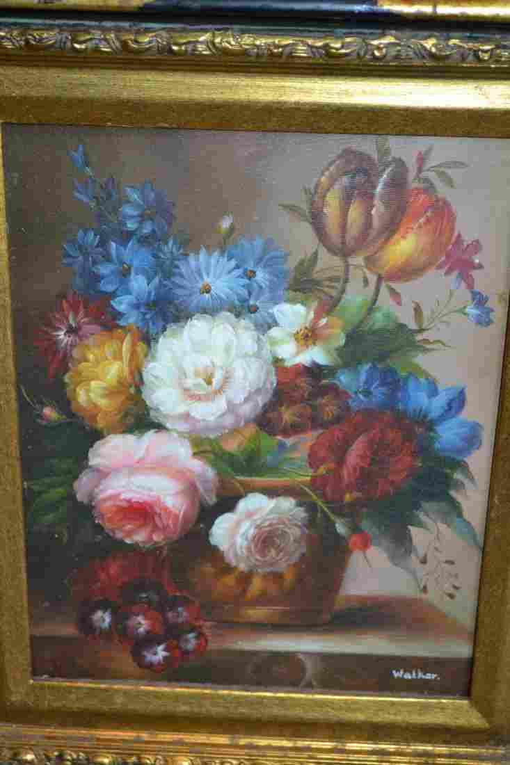 Modern oil on canvas, still life of flowers, signed