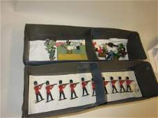 Set of ten diecast metal model soldiers together with a