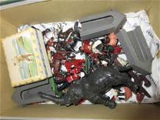 Small box containing a quantity of various Britains toy