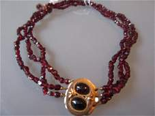 Victorian childs garnet set necklace with earrings