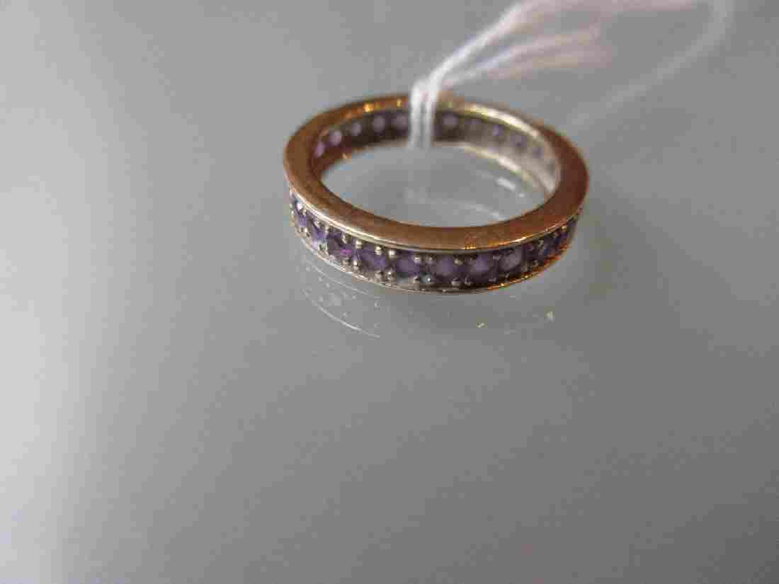 9ct Gold amethyst set full eternity ring