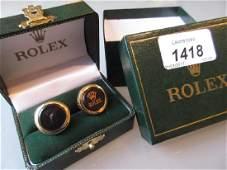 Pair of Rolex cufflinks in original box