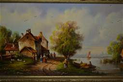 W.E. Van Groot, 20th Century Dutch school, oil on
