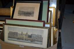 Quantity of miscellaneous framed prints and maps
