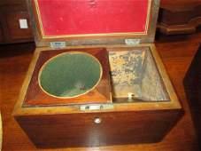 Small George III mahogany and boxwood line inlaid