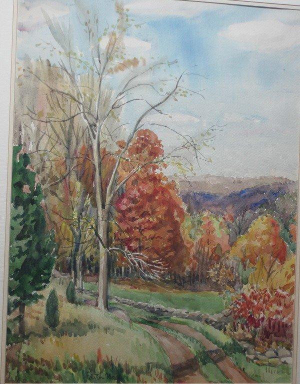 4: Nagler, Edith, Fall Landscape