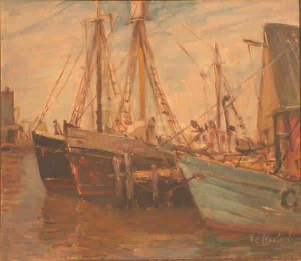 8: Garson, Ships at dock-Gloucester Harbour